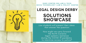 Legal Design Derby - Solutions Showcase